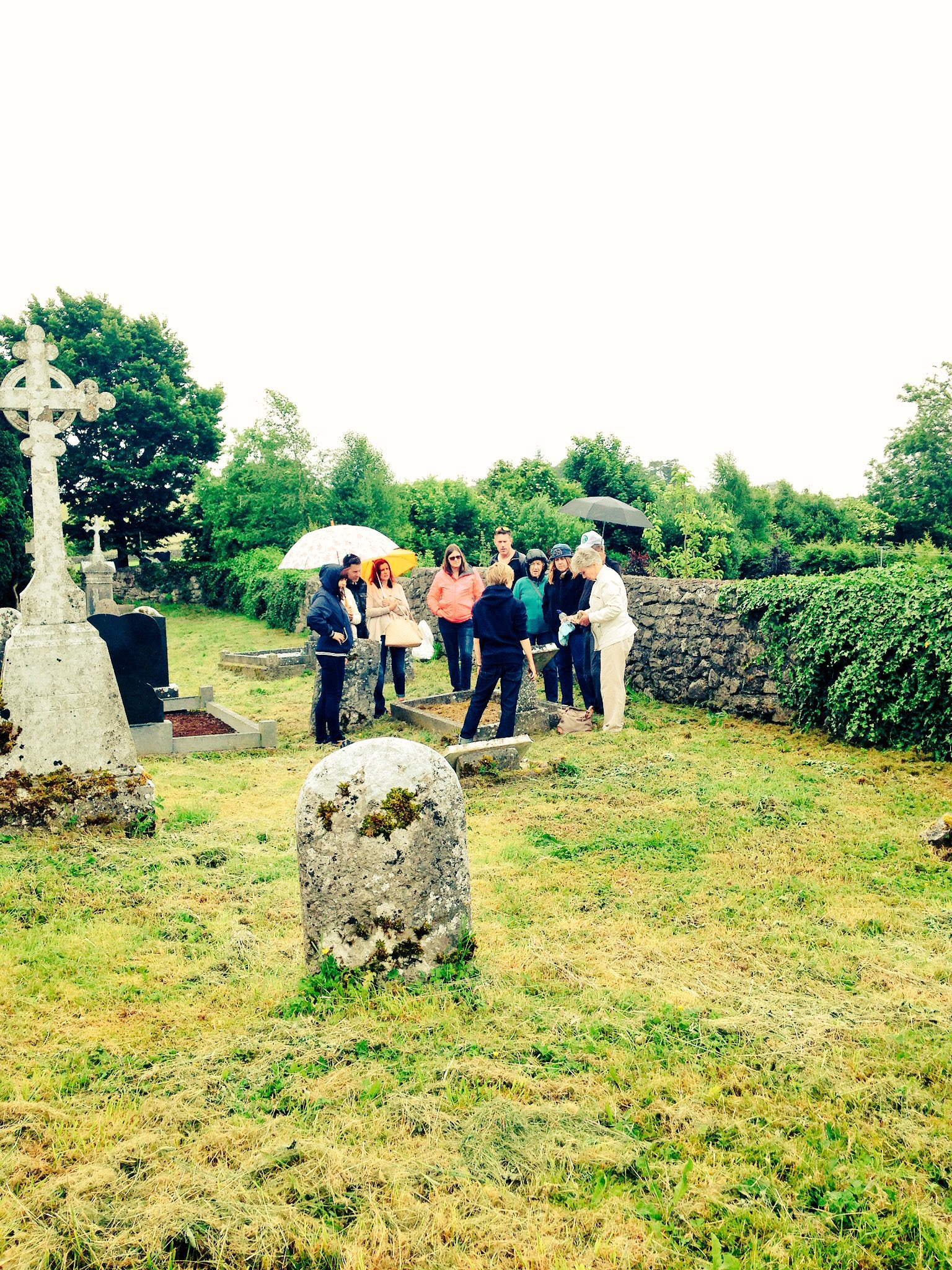 family graveside Ireland