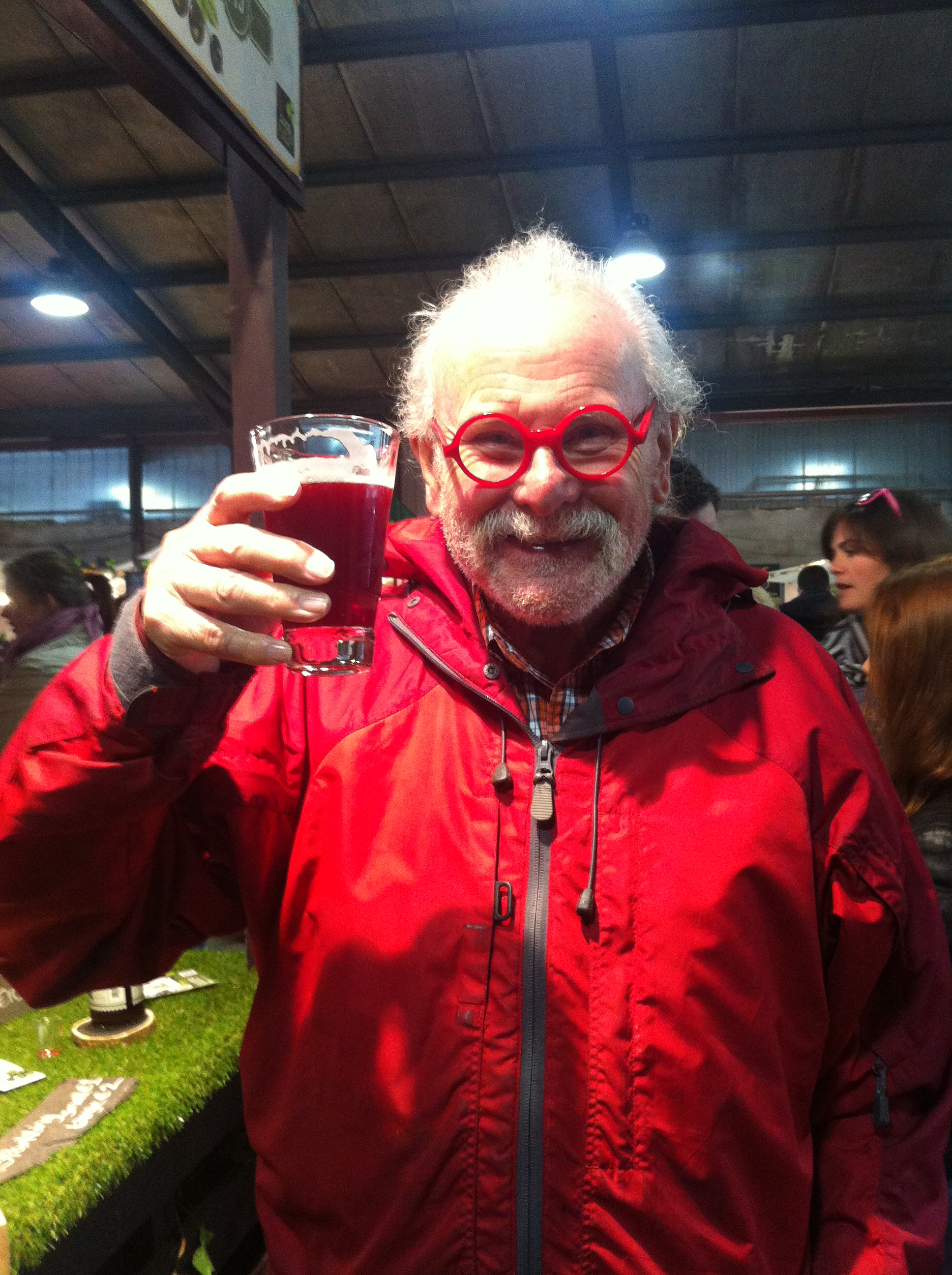Roger Phillips enjoying Mr. Jeffares Black Currant Cordial - Forager Extraordinairre!